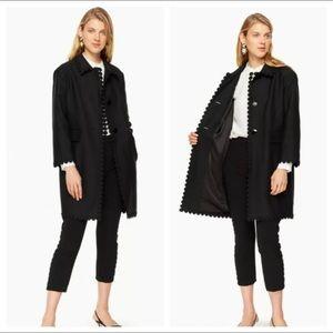 Kate Spade Floral Lace Trim Coat Jacket 12